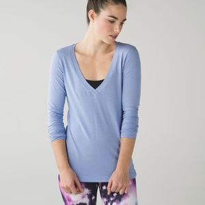 Lululemon Let Be  Cool Breeze Long Sleeve Top